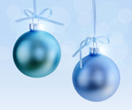 Two Christmas ornaments Stock Photo