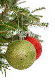 Two Christmas Ornaments Royalty Free Stock Photography