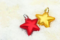 Two Christmas ornaments Stock Image