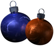 Two christmas shiny balls Royalty Free Stock Photos