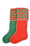 Two Christmas Stockings Royalty Free Stock Photography