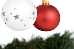 Two Christmas Tree Balls Stock Photos