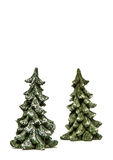 Two Christmas tree isolated Royalty Free Stock Image