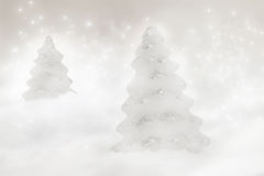 Two Christmas trees Royalty Free Stock Images