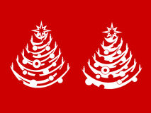 Two christmas trees Royalty Free Stock Photography