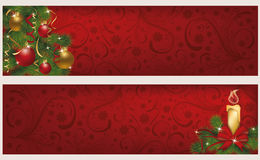 Two christmas winter banners Stock Images