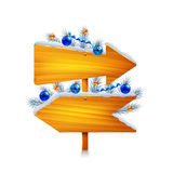 Two christmas wooden arrows isolated vector Royalty Free Stock Images