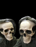 Two Chuckling Skeletons royalty free stock images