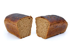 Two chunks of rye bread with anise Royalty Free Stock Photography