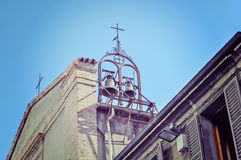 Two church bells under a clear sky Stock Photography