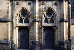 Two church doors. Church doors entrance Stock Image