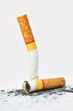 Two cigarette butt Royalty Free Stock Photos