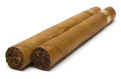 Two Cigars Stock Photography