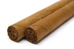 Two Cigars (Close View) Stock Photos