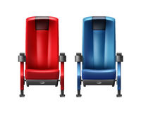 Two cinema seats Stock Photography