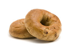 Two Cinnamon Bagels Royalty Free Stock Images