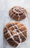 Two cinnamon and rasin rolls Royalty Free Stock Image
