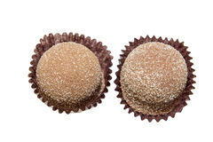 Two Cinnamon Sugar Coated Chocolate Isolated Royalty Free Stock Image