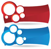 Two Circle Banner Backgrounds Royalty Free Stock Photography