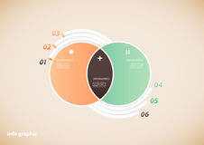 Two circle infographic illustration Stock Photos