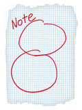 Two circles scribbled on a squared piece of paper Royalty Free Stock Images