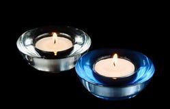 Two circular candle Stock Image
