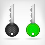 Two circular keys object 3D design  Stock Photography