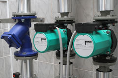 Two circulating pumps Royalty Free Stock Image