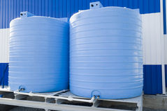Two cisterns stock images