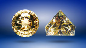 Two Citrine Royalty Free Stock Photos