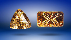 Two Citrine Stock Photo