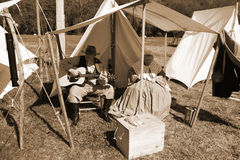 Two Civil War Reenactors Stock Photography
