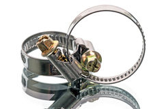 Two clamps Royalty Free Stock Photo