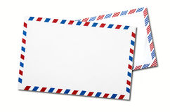 Two classic air mail envelope isolated Stock Images