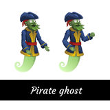 Two classic green pirate ghosts in a suit Royalty Free Stock Photo