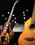 Two Classic Guitars at a Small Concert royalty free stock image