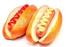 Two classic hot dog Royalty Free Stock Photography