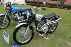 Two classic japanese motorcycles lined up Royalty Free Stock Photography
