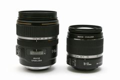 Two classic lens 18-55 and 17-85 with IS Royalty Free Stock Image