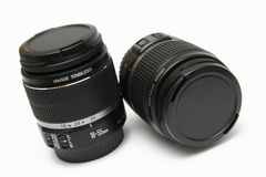 Two classic lens 18-55 IS Royalty Free Stock Images
