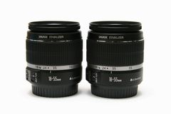 Two classic lens 18-55 IS Royalty Free Stock Photography