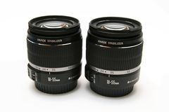 Two classic lens 18-55 IS Stock Image