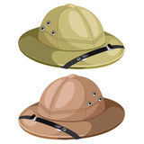 Two classic mens hunting hat. Vector image Stock Photo