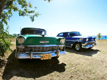 Two classic old car Royalty Free Stock Photography