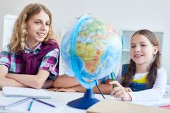 Geographical studies Stock Images