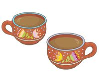 Two clay cups Royalty Free Stock Photo