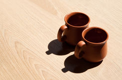 Two clay steins Stock Image