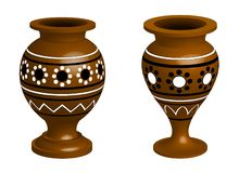 Two clay vases royalty free illustration