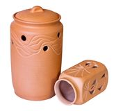Two clay vessels Royalty Free Stock Image