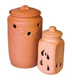 Two clay vessels Stock Photography